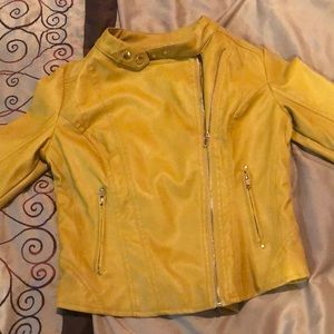 Faux leather jacket women's size SMALL.